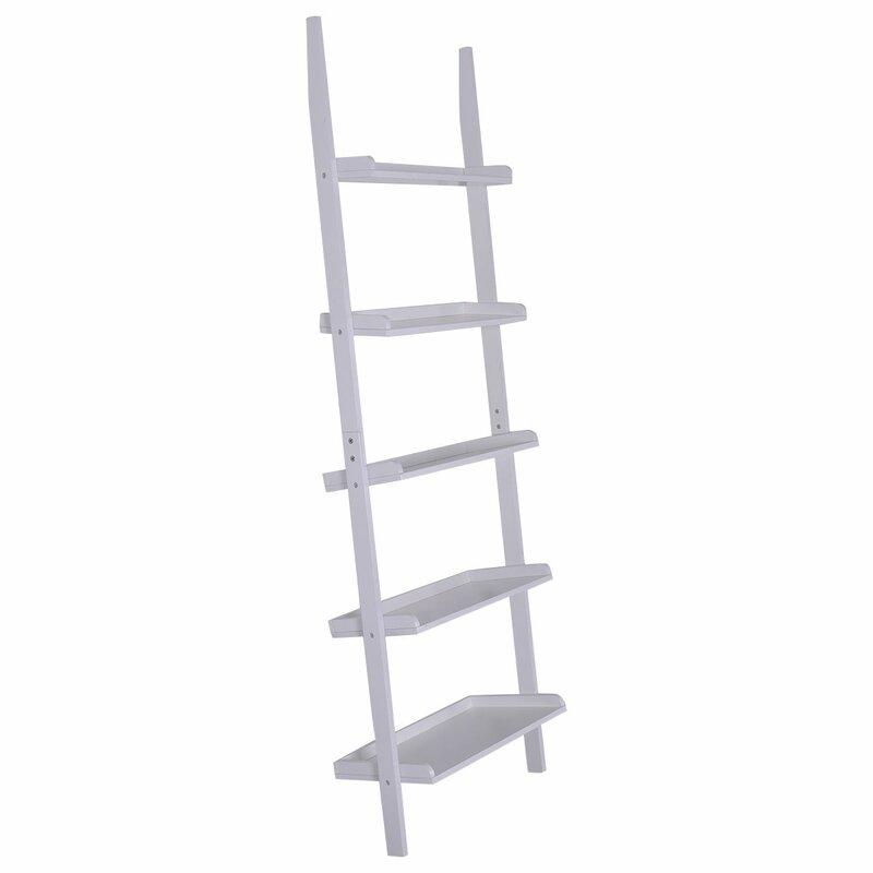 Luz 5 Tier Ladder Bookcase