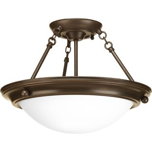Tod 2-Light Semi-Flush Mount by Red Barrel Studio