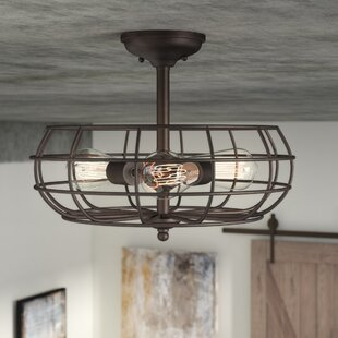 Evergreen 3-Light Semi Flush Mount by Trent Austin Design