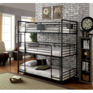 Dowdey Industrial Twin Triple Bunk Bed by Harriet Bee Today Only Sale