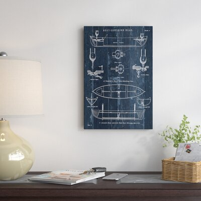 East urban home boat launching blueprint i graphic art print on boat launching blueprint ii graphic art print on canvas malvernweather Images