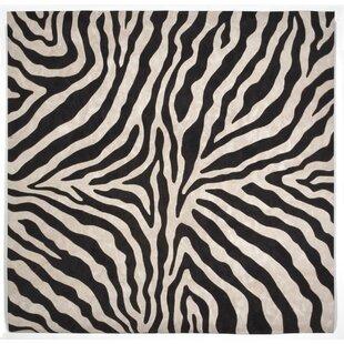 Davina Black Zebra Indoor/Outdoor AreaRug