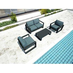 Harmonia Living Portal 4 Piece Sofa Set with Cushions