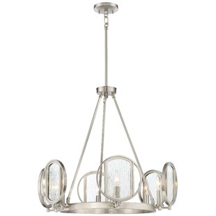 Cayeman 6-Light Wagon Wheel Chandelier