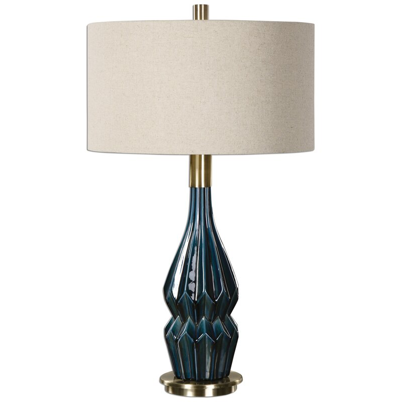 "31.5"" Table Lamp. Shop Drew's Honeymoon House! {Master Suite} #teal"