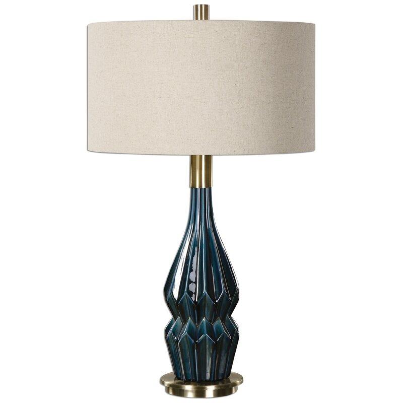 "31.5"" Table Lamp. Shop Drew's Honeymoon House! {Master Suite} #teal"