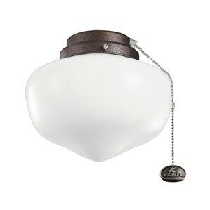 Copper schoolhouse ceiling fan light kits youll love wayfair 1 light schoolhouse ceiling fan light kit mozeypictures Images