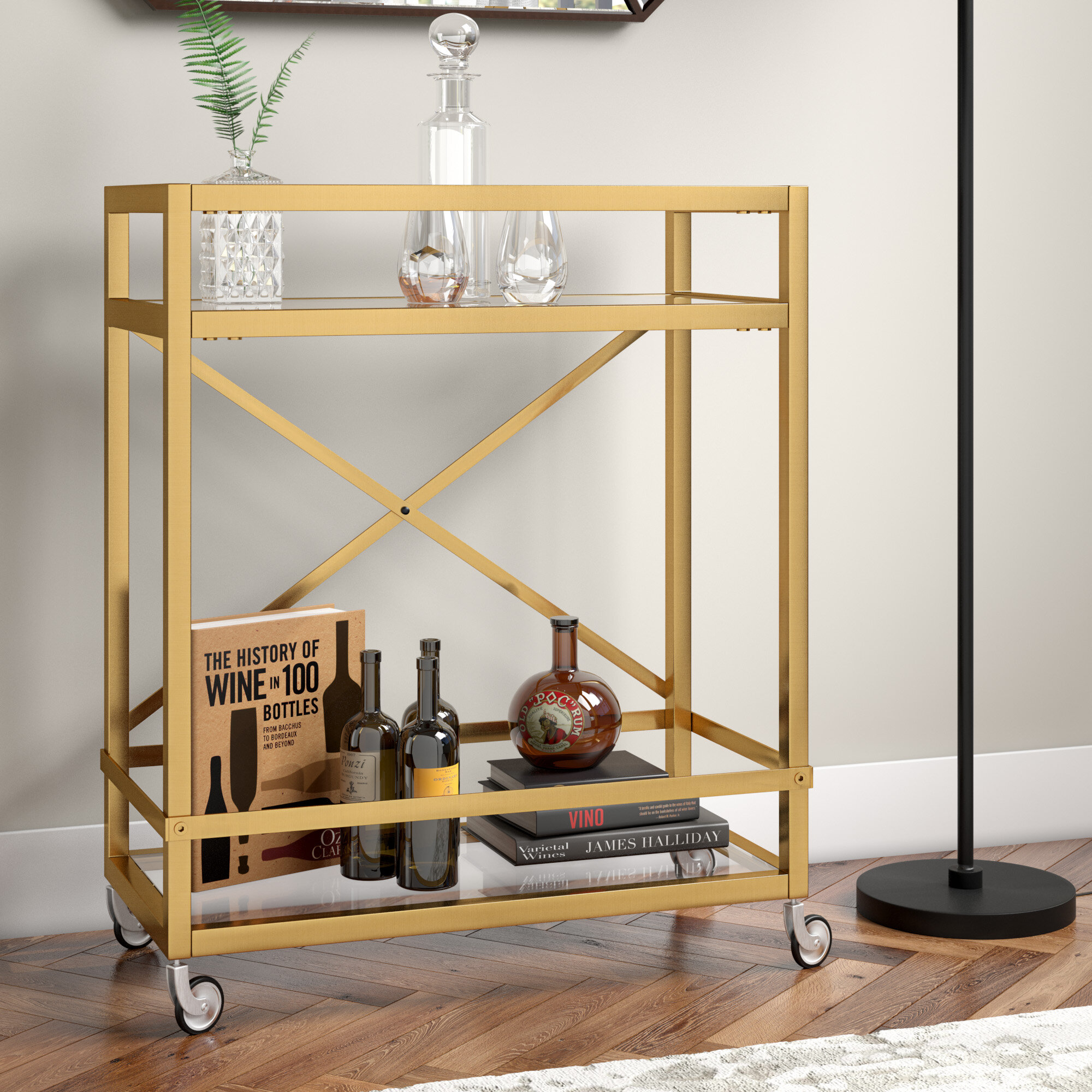 Brass Bar Carts You Ll Love In 2021 Wayfair
