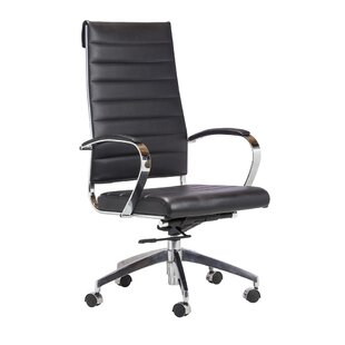Orren Ellis Charles Leather Office Chair