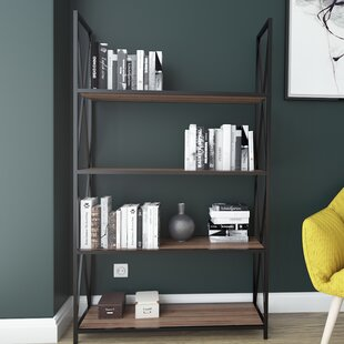 Altom X-Frame Metal Industrial 4-Tier Etagere Bookcase by Williston Forge