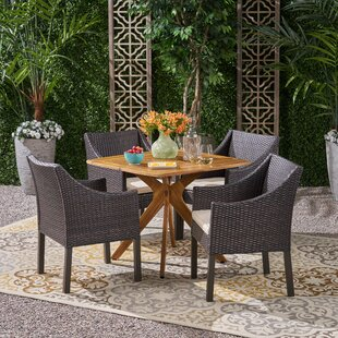 Eline 5 Piece Dining Set with Cushions