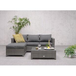 Gluck 4 Seater Rattan Effect Corner Sofa Set By Sol 72 Outdoor