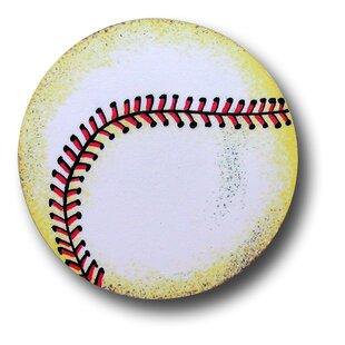 Handpainted Baseball Novelty Knob