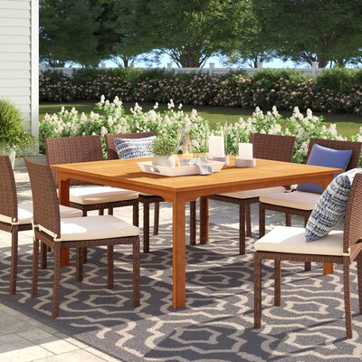 Brighton Wooden Dining Table by Sol 72 Outdoor Today Only Sale