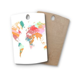 Birchwood Wild World Travel Painting Cutting Board By East Urban Home