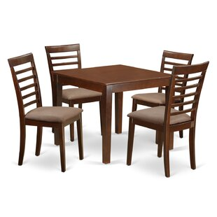 Cobleskill Microfiber Upholstery 5 Piece Dining Set by Alcott Hill Looking for