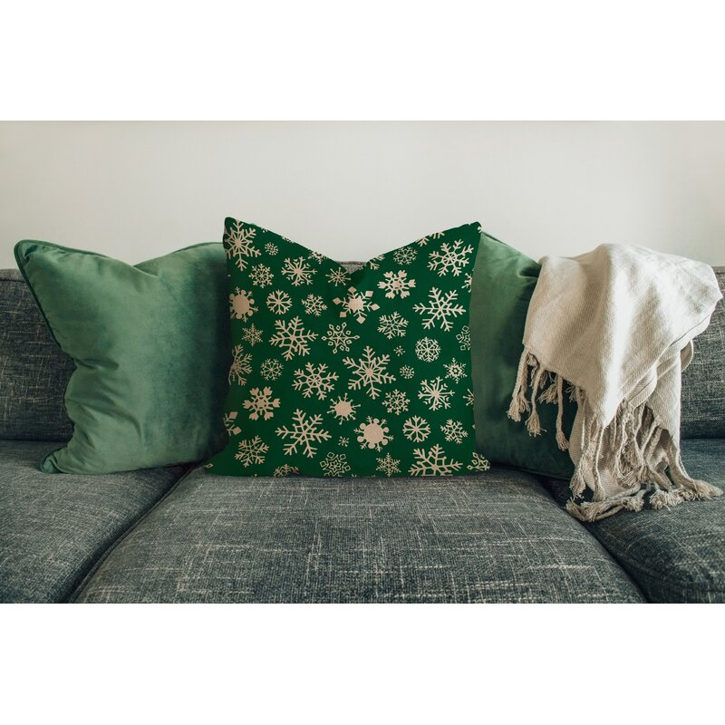 The Holiday Aisle Filon Snowflakes Outdoor Square Pillow Cover Reviews Wayfair