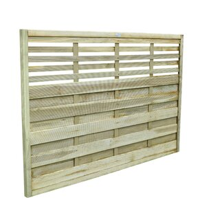 Kyoto 6' x 5' (1.8m x 1.5m) Horizontal Weave Fence Panel (Set of 3) by Lynton Garden