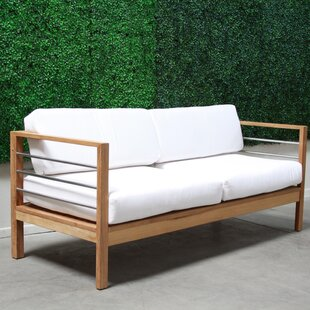 Rosecliff Heights Bendel Teak Loveseat with Cushions