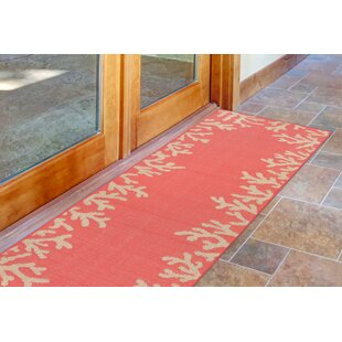 Claycomb TER Hand-Tufted Orange Indoor/Outdoor Area Rug