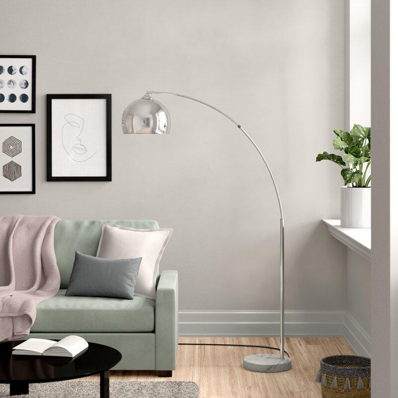 Zipcode Design Bonita 174cm Arched Floor Lamp Reviews Wayfair Co Uk