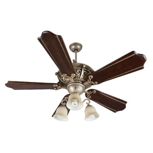 Top Reviews 52 Whipkey 5-Blade Hardwired Ceiling Fan By Fleur De Lis Living