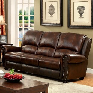Inexpensive Fitzgibbons Leather Sofa by Darby Home Co Reviews (2019) & Buyer's Guide