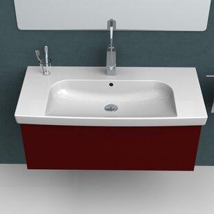 CeraStyle by Nameeks Roma Ceramic Rectangular Drop-In Bathroom Sink with Overflow