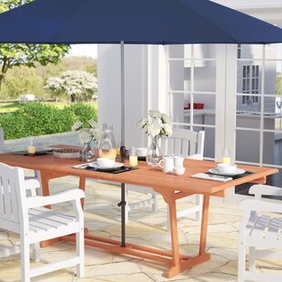 Goolsby Extendable Solid Wood Dining Tabl..