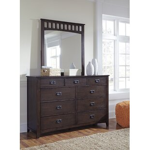 Red Barrel Studio Turner Alley 9 Drawer Dresser with Mirror Image