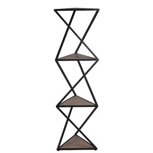 Hollingsworth Metal and Wood Shelf Geometric Bookcase