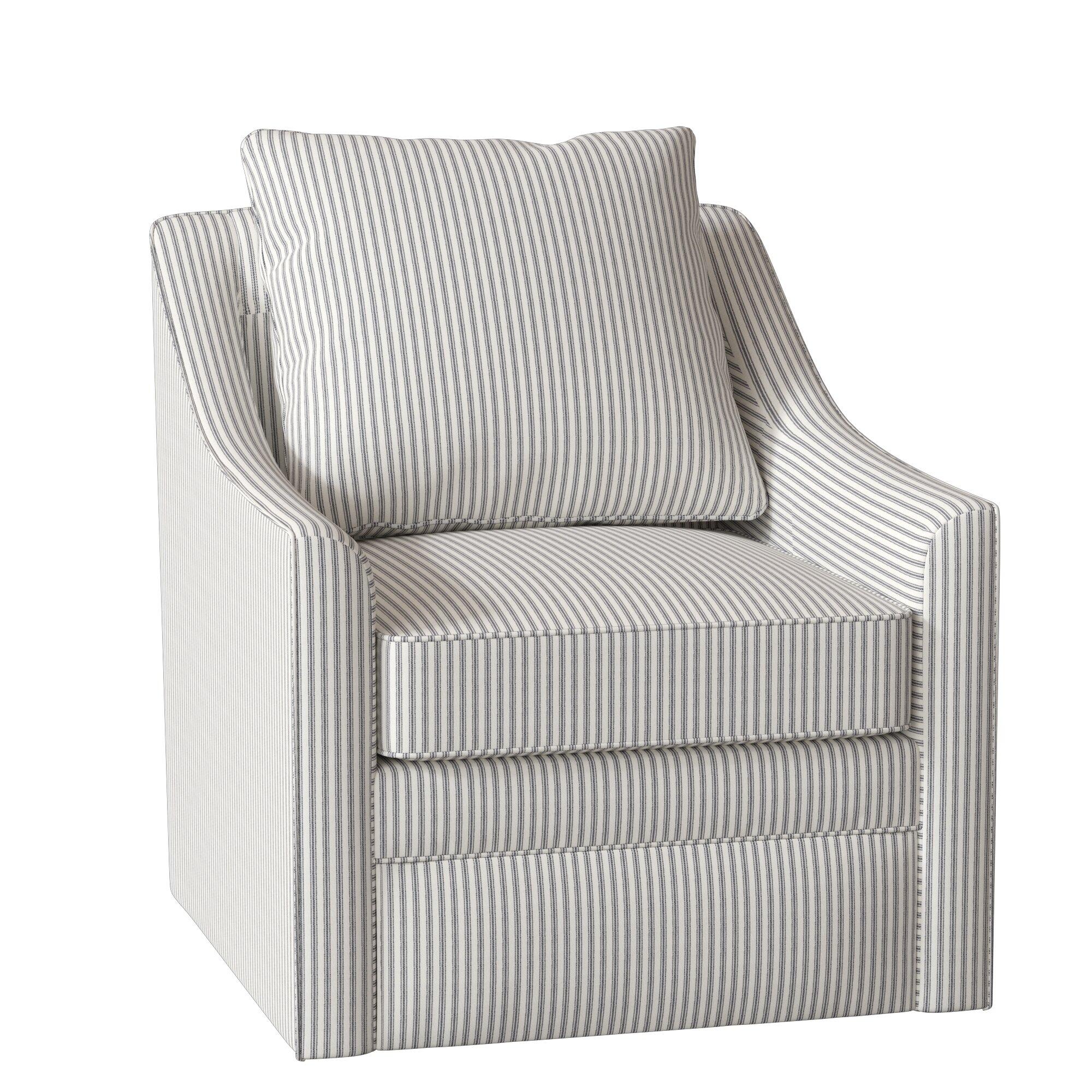 Allmodern Custom Upholstery Quincy Swivel Armchair Reviews Wayfair