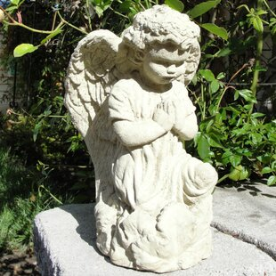 garden angel statues. Vintage Praying Angel Statue Garden Statues