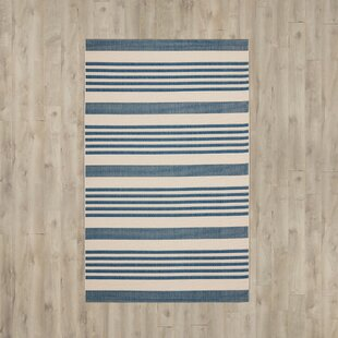 Higgs Blue/Beige Indoor/Outdoor Area Rug