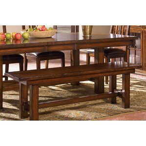 Stockett Solid Mahogany Wood Bench by Loon Peak