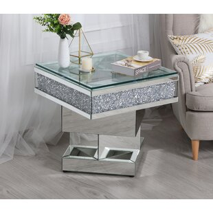 Abella Mirrored End Table by Rosdorf Park