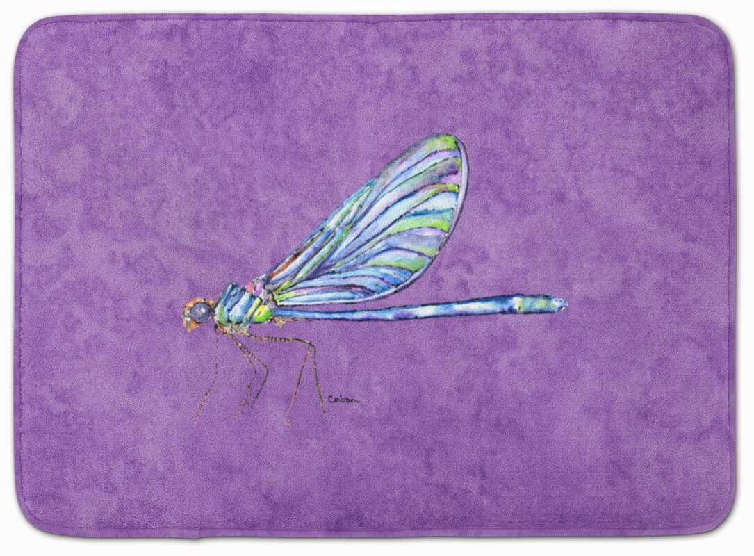 Dragonfly Memory Foam Bath Rug