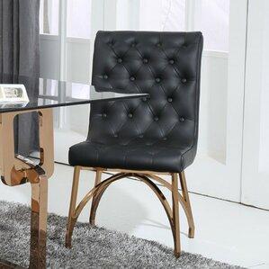 Clower Modern Upholstered Solid Back Pars..