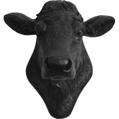 Bessie Cow Head Wall Decor Color Black