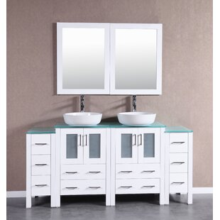 Gloria 72 Double Bathroom Vanity Set with Mirror by Bosconi
