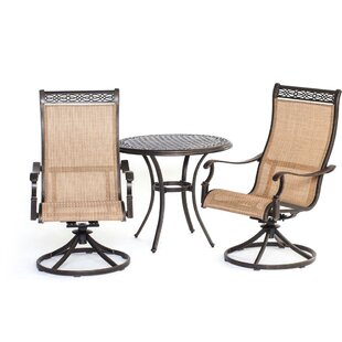 Barras 3 Piece Bistro Set by Darby Home Co Comparison