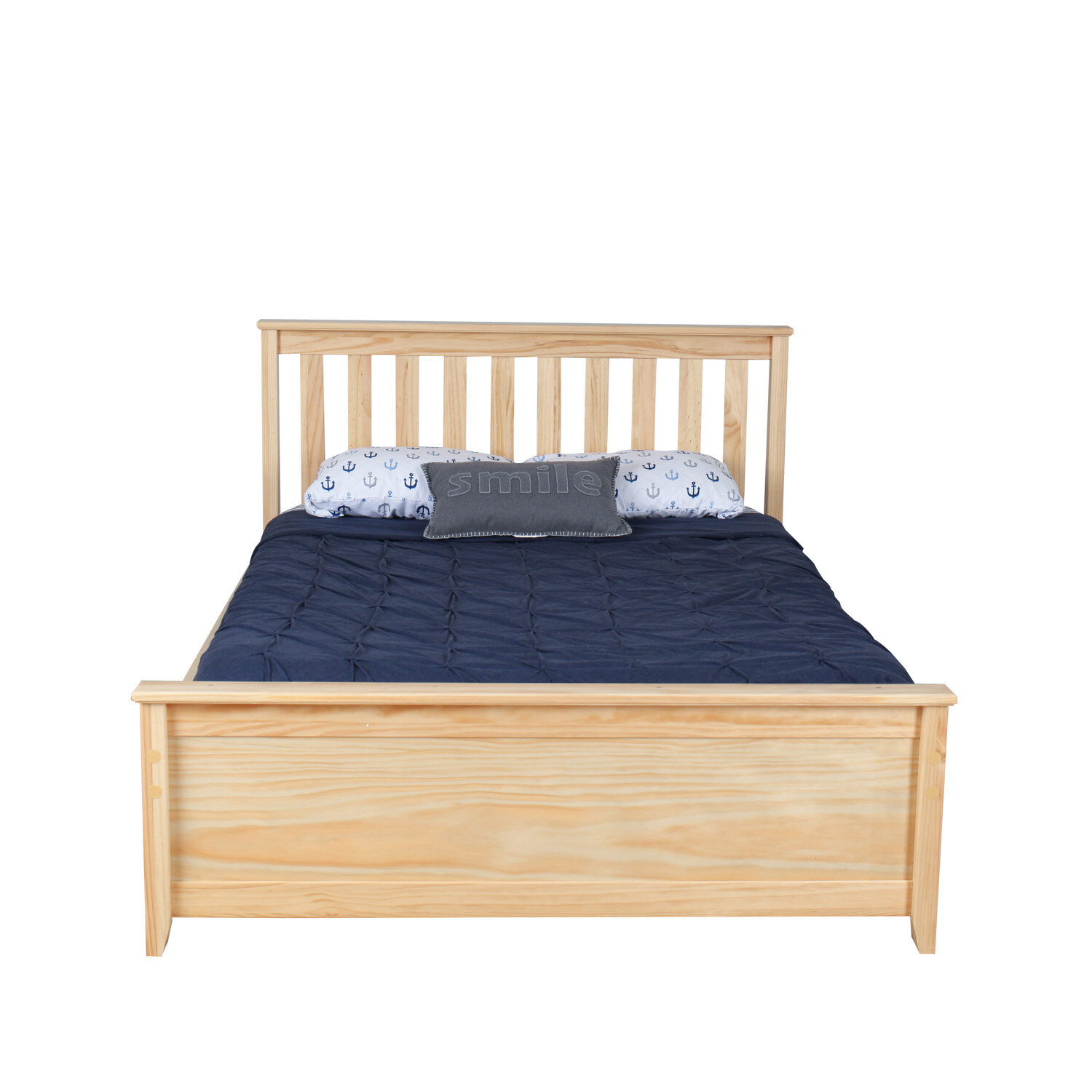 Max & Lily Solid Wood Full Platform Bed with Trundle Frame & Reviews ...
