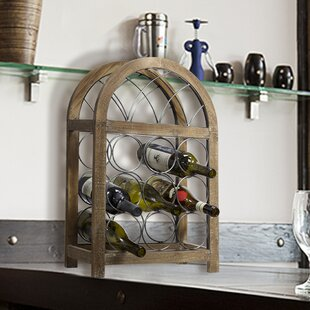 Sharie Rustic 9 Floor Wine Rack