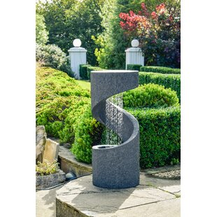 Review Brant Glass Fiber Reinforced Concrete Spiral Water Feature With LED Light