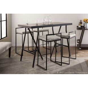 Gary 5 Piece Counter Height Solid Wood Dining Set