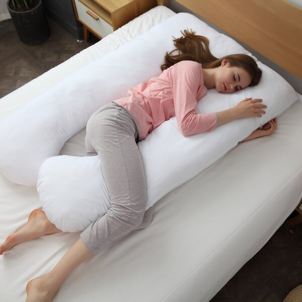 Delaware Hypoallergenic Down Alternative Total U Shaped Fiber Body Pregnancy Pillow