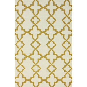 Flatweave Mustard Willow Area Rug