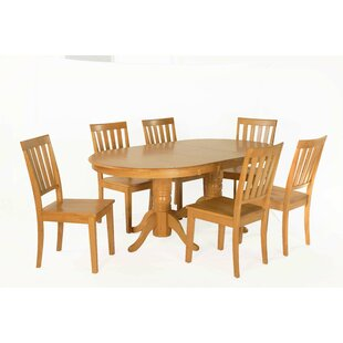 Inwood 7 Piece Extendable Solid Wood Dining Set by DarHome Co Savings