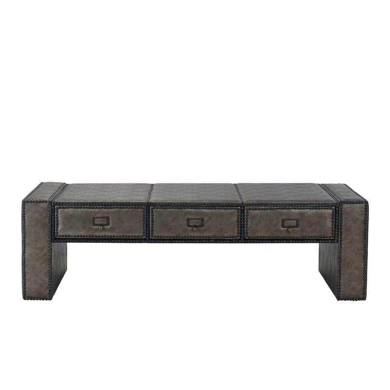 Terrific Kassik Faux Upholstered Coffee Table With Storage Caraccident5 Cool Chair Designs And Ideas Caraccident5Info