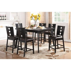 Dolly 7 Piece Counter Height Dining Set by A&J Homes Studio